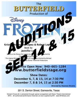 19-20 Youth Productions/Auditions - Butterfield Stage